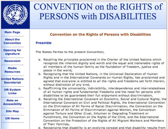UN Disabilities Convention