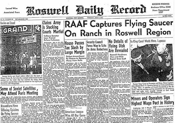 Roswell Headline