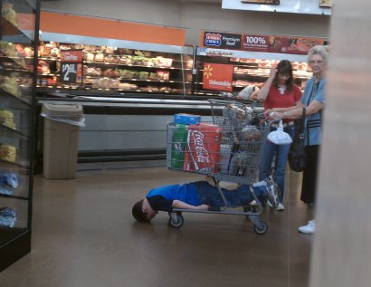Kid at Grocery