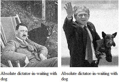 Bush/Hitler/Dogs