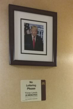 The President at the McDonald's near the White House.